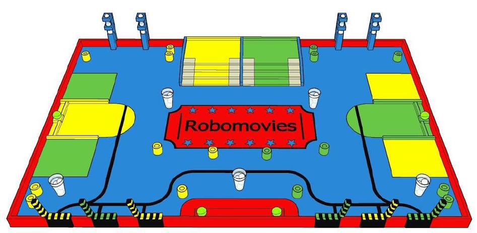 Table de jeu du concours Eurobot 2015 (Euromovies)
