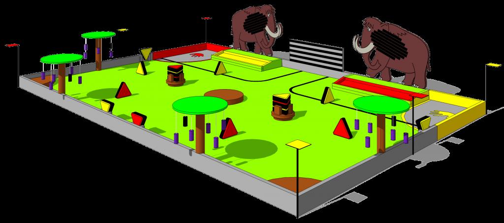 Table de jeu du concours Eurobot 2014 (Préhistobot)